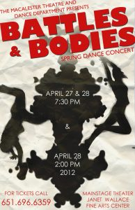 "Theatre and Dance Department Presents ""Battles and Bodies"" Spring Dance Concert April 27-28"