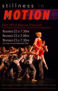 Macalester College Theatre and Dance Department Presents Stillness in Motion