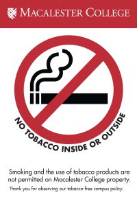 Macalester Becomes Tobacco-Free January 1