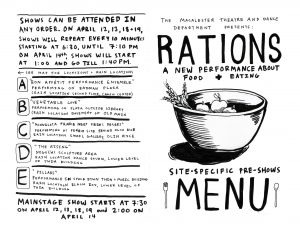 Theatre and Dance Department presents  RATIONS: A New Performance about Food and Eating