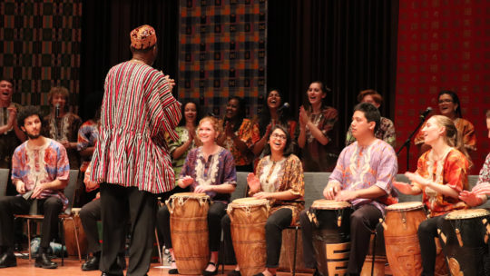 African Music Ensemble performs
