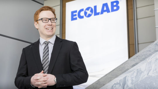 Daniel Neff at Ecolab's headquarters in St. Paul.