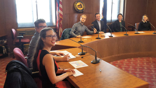 Students in St. Paul City Hall